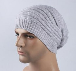Wholesale New Wave Party - New recommend men winter free beanies neutral cross color wave outdoors ski wool hats women high-top warm riding knitting caps wholesale