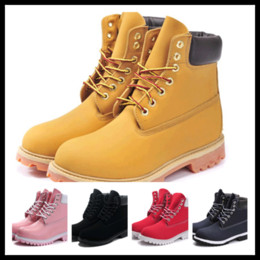 Wholesale Military Warm - Wholesale-Autumn winter men women warm snow boots brand genuine leather ankle tims boots waterproof Tooling military Boots Hiking Shoes