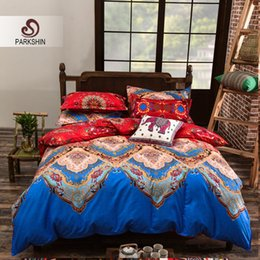 Parkshin Polyester Cotton Bedding Set Floral Home Textiles Mysterious And Ornate Bed Sheet Set Soft Bedclothes