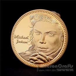 Wholesale Pop New Music - The King of Pop Michael Jackson Music Superstar Gold Commemorative Coin Token