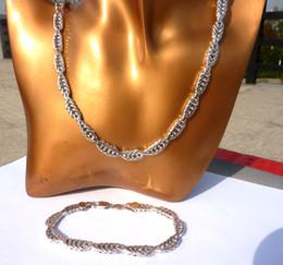Wholesale Solid Platinum Necklace - 24k Real White Solid Gold GF Miami Cuban NEW Fine Necklace Bracelet Various SETS Jewelry Concept 2017 MEN's women's Handsome