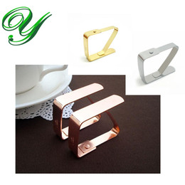 Wholesale Christmas Decoration Clips - Tablecloths clamps clips stainless steel large thick picnic table covers Christmas decoration gold wedding party event supplies accessories
