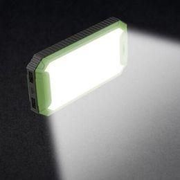 Wholesale Solar Light Mobile Charger - Travel Solar Power Bank 10000mah Dual USB LED Camping Light Solar Battery Charger powerbank for Mobile phone