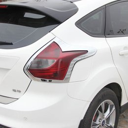 Wholesale Toyota Rear Light Cover - For Ford Focus 3 2012 2013 2014 Hatchback 5 Doors ABS Chrome Rear Tail Light Lamp Cover Taillight Lamps Trims 2PCS