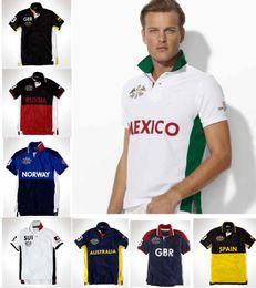 Deutschland Großhandels-Poloshirt-festes Polohemd-Mann-Luxuskurzschluss-Hülsen-Männer grundlegendes oberstes Baumwollpolos Entwerferstickerei-Frauenkindt-shirt Versorgung