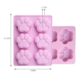 Wholesale Chocolate Cookie - Lowest Price Cat Paw Print Bakeware Silicone Mould Chocolate Cookie Candy Soap Resin Wax Mold Cake Decorating Tools