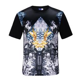 Wholesale Men Silk Short Sleeve Shirt - 2017 New Design Rock t shirt mens t shirts for men Silk Summer Short Sleeve O Neck silk front Black Summer T-shirt SX-305