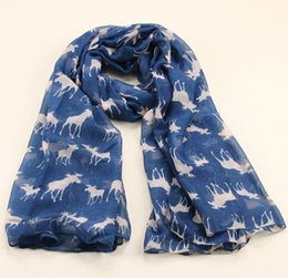 Wholesale christmas shawl for girls - Wholesale-2015 New Fashion Milu Deer Pattern Velvet Scarf Infinity Scarves For Women Girl Christmas Gift Print Shawl 185*100cm