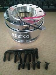 Wholesale Jdm Wheel Bolts - NEW Silver Universal Car JDM 6 Bolt Steering Wheel Quick Release Hub Adapter Kit Free shipping