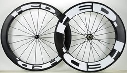 Wholesale Full Carbon Road Bike Wheelset - Outlet ! HED front 60mm,rear 88mm, clincher tubular Full carbon bike wheelset, ,700C road bike carbon wheel 2 years warranty