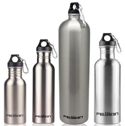 Argentina Nuevo llega 500/750/1000 / 1800ML Botella de agua de acero inoxidable de boca ancha Taza de botella de agua deportiva de viaje al aire libre para ciclismo Escalada Suministro