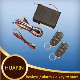 Wholesale One Lock Keys - Hot sales Car Remote start Central Lock Keyless Entry System with Remote Folding Flip Key Keyless Entry Transmitter Controllers