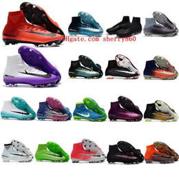 Wholesale New Cleats - New Mercurial Superfly V FG Crampons de Football Boots High Quality Top Soccer Shoes Mens Soccer Cleats Zapatos Chuteiras Botas de Futbol