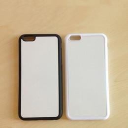 Wholesale Iphone Rubber Diy Sublimation Case - 500 pcs Wholesale DIY Sublimation Case For iPhone 7 Samsung A5 A7 J5 J7 Blank 2D Rubber Soft TPU Cover Aluminum Plate Insert