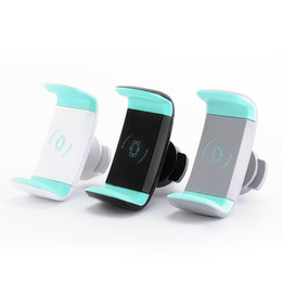 Wholesale Air Packaging - Mini Air Vent Car Mount Holder 360 Rotating Clip Stand Mobile Cell phone For iphone X 8 Samsung S8 GPS with Retail package