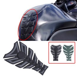 Wholesale motorcycle decals for honda - Universal 3D 3M Rubber Motorcycle Modified Fuel Tank Pad Protector Sticker Decal for Harley Honda Suzuki Yamaha