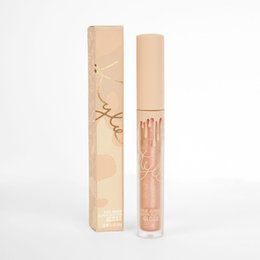 Wholesale Glitter Lip Gloss Wholesale - DHL Kylie Cosmetics Vacation Edition Liquid matte lipstick lip gloss Nude Waterproof Super Glitter Glamour Glitz June Bug Makeup Lip stick
