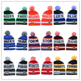 Wholesale Matching Hats - 2017-18 New style wholesale NRL Team Beanies Caps Sports Hats Mix Match Order 18 Teams All Caps in stock Top Quality Hat for free shipping