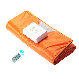 Wholesale New Arrivals Blankets - 2017 new arrival body slimming Far Infared Blanket Sauna Thermal Blanket Appratus Infrared Heating Blanket Weight Loss Infrared Bag Ray He