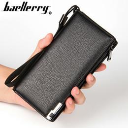 Wholesale Best Cell Phone Holder - wallet men zipper men wallets Multi-card slots wallets leather purse fashion male clutch purse long famous brand best quality !