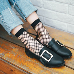 Wholesale Sexy Hot Socks - 2017 Hot Selling Fashion Women Highly Stretchable Short Hosiery Ankle Socks Sexy Fishnet Solid Black Socks