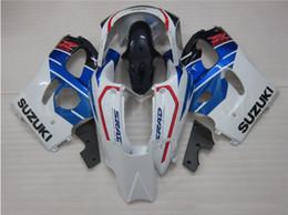 Le scarpe blu di srad online-Regali gratuiti Nuovo kit carena motore adatto per SUZUKI SRAD GSXR750 GSXR600 96-00 1996 1997 1998 1999 2000 R600 R750 carrozzeria set rosso blu bianco