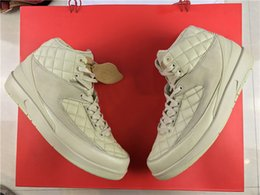 Wholesale Hat Shoes - 2017 Newest Best Top Just Don X C Air Retro 2 Beach 2S 834825-250 40-46 Men Basketball Shoes Running Sport Sneaker With Original Box Red Hat