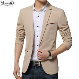 Wholesale Cheap Branded Jackets For Men - Wholesale- 2016 new brand Mens Blazer slim fit jacket casual cheap mens blazer jacket suit for men big size clothing 4xl 5xl