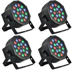 mini led par puede Rebajas Led luz de escenario 18x3W 54W 6 canales RGB Led Par de iluminación plana para Club DJ Stage Party KTV Disco DMX 512 Control Led efecto