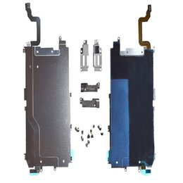Wholesale metal home button - Metal Backplate Shield Home Button Extend Flex Cable Assembly LCD with Parts for iPhone 6 Plus free DHL