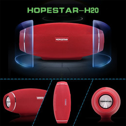 Wholesale High Power Wireless Speakers - Bluetooth Speaker Wireless Speakers big power 31w HOPESTAR H20 plastic high-end bluetooth wireless rugby speaker with MIC handsfree to call
