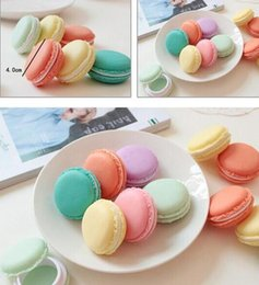 Wholesale Macaroon Boxes - Mix Colors Macaroon Jewelry Box Package For Earrings Ring Necklace Pendant Small Jewelry Packaging PP TPE Material 4x4x2cm