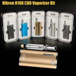 Wholesale Metal Box Glasses - Authentic Hibron H10 Starter Kit 650mAh 10W Box Mod Upgraded Thick Oil CE3 BUD CO2 0.8ml Cartridges Atomizer O pen vs Mystica Vaporizer DHL