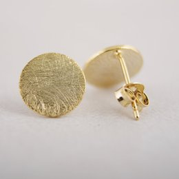 Wholesale Cc Studs - 2015 New fashion jewelry gold silver pink cc Circle stud Earrings Simple Tiny round Stud ED013