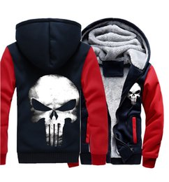 Wholesale Skull Hooded - Man's Coat Fleece Cotton Outerwear Jacket Size S-5XL High Quality Winter Warm Thick Coat