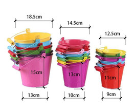 Wholesale Wholesale Mini Pail - Free shipping multiple Colour metal Flowerpots Planter Small Pails pure garden bucket Mini Buckets vintage series quality iron pail