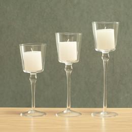 Wholesale Votive Candelabra - 3 Tier Tabletop Glass Candelabra Good Quality Clear Glass Decorative Candle Holder,Votive Candlestick,Idea For Gift