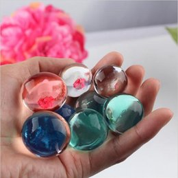Wholesale 12mm Shaped Beads - Random Color 8-12mm Pearl Shaped Crystal Soil Water Beads Mud Grow Magic Jelly balls Home Decor Without Glass Bottle c148