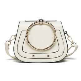 Wholesale Interior Design Pink - 2017 New Fashion Handbag with metal Ring Design Handle Bag High Quality shoulder bag Messenger Handbags