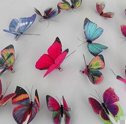 Wholesale African Christmas Decorations - 92 Styles Women Flower Brooches Christmas Brooch Pins 3D Butterfly Decorations Cloth Simulation Butterfly Pins Brooch Butterfly Pins Free Sh