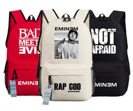 Wholesale Oxford Laptop Bag - Wholesale- RAP GOD Eminem Backpack oxford Schoolbags Fashion Unisex Travel Laptop Bag Gift
