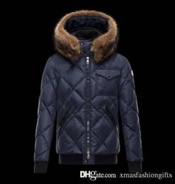 Wholesale Fur Winter Jackets For Men - Mon Winter Down Jacket Men Monclair Warm M Brand Designer Thick Hooded Jackets for Man Monclar Anorak Real Racoon Fur Parkas Fashion Coats