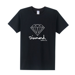 Wholesale Diamond Supply Shirts Free Shipping - summer Fashion short sleeve New printed diamond supply co men t shirt skate brand hip hop top tee free Shipping OT-154
