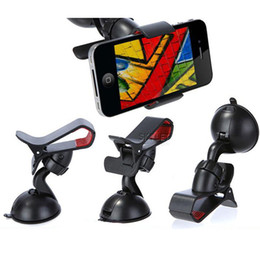 Wholesale Smart Phone Bracket - For Iphone 6 Universal Car Holder Windshield Car Mount Bracket Holder Cupule Black For Smart Phone PDS GPS Camera Recoder With Retail Box