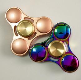 Wholesale Retail Sale Glasses - Rainbow Fidget Spinner Colorful EDC Gyro Toys Hand Spinner Fidget Aluminum Fidget HandSpinner Professional Factory Direct Sales