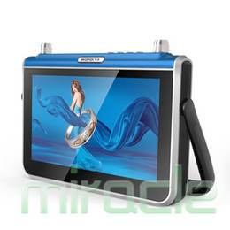 Wholesale Asf Mpeg - Wholesale- mahdi M701 7 inches wifi mobile networks small TV player old man theatre machine ASF AVI AMV VOB MPEG DAT RM RMVB VOD MPEG-4