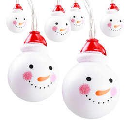 outdoor decorations for birthday party Coupons - 1.5M 3M Led String Light 10 20LEDs Snowman 2A Battery Operated Indoor Outdoor Decoration for Christmas Party Birthday Wedding
