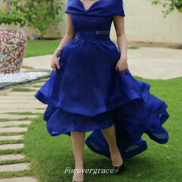 Wholesale Hi Low Evening Gowns - Saudi Arabia High Low Evening Dress Women Pageant Wear Special Occasion Dress Party Gown Custom Made Plus Size