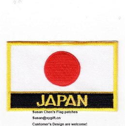 Wholesale Japan Embroidery - Japan Flag Patches Iron on patches, logo embroidery patches, embroidery patches for clothing, Free Shipping