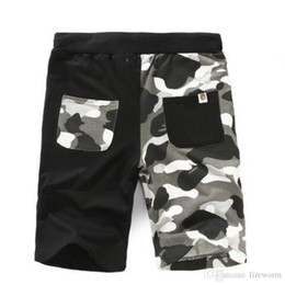 Wholesale Free Camo Pants - New Arrive Summer Men's Shark Shorts Cotton Camo Causal Shorts Men Casual Camouflage Skateboard Short Pants Loose Streetwear Free Shipp